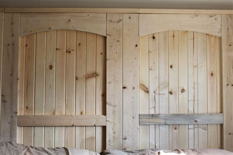 Painting Knotty Pine Kitchen Cabinets hometalk how to build a rustic barn door headboard