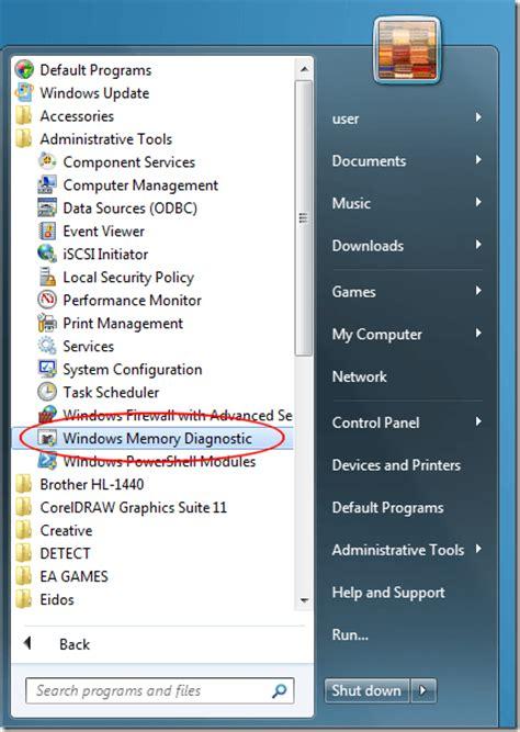 ram diagnostic tool windows 7 troubleshoot ram with windows 7 s memory diagnostic tool