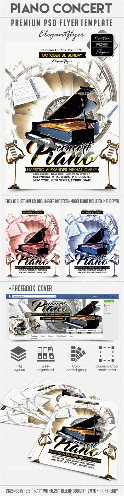 Download Piano Concert Facebook Cover Flyer Template Piano Recital Poster Template