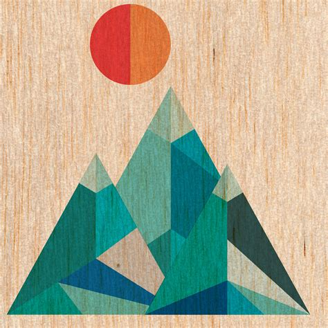 put pattern in photoshop geometric mountains created in illustrator put together