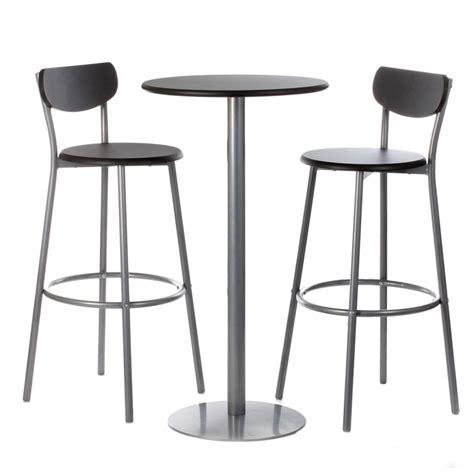 agréable Alinea Chaises De Cuisine #4: ensemble-table-chaises-de-bar-thabo-noir.jpg