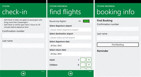 citilink mobile check in citilink indonesia releases official app for windows phone