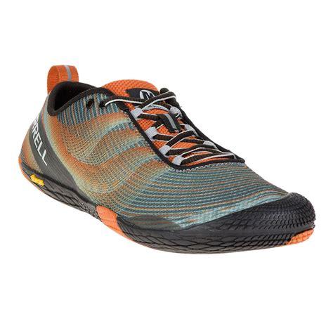 orange sneakers mens merrell vapor glove 2 mens orange black sneakers running