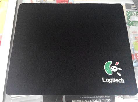 Logitech Mousepad Hitam jual mouse pad logo logitech murah hitam untuk tatakan