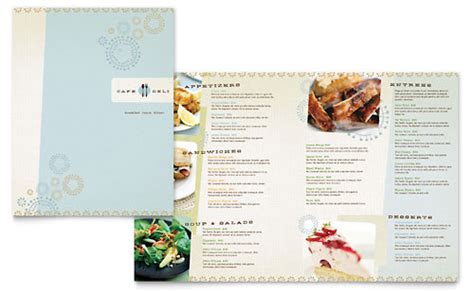 free menu template sle restaurant menu exles