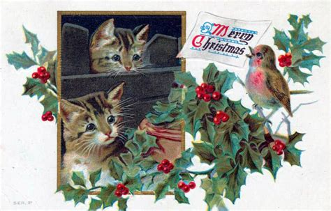 vintage christmas cards   public domain  vintage illustrations