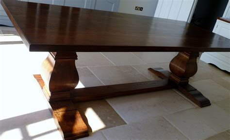 Handmade Oak Table - bespoke handmade table in solid oak with bulbous legs