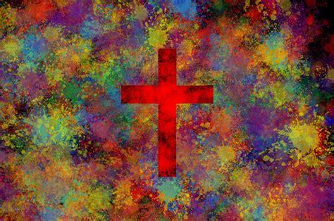 colorful crosses colorful cross paint splatter wallpapers hd desktop