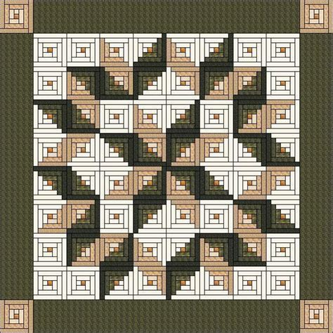 Size Log Cabin Quilt Pattern by Log Cabin Carpenter King Size 105 Patterns Cabin And Logs
