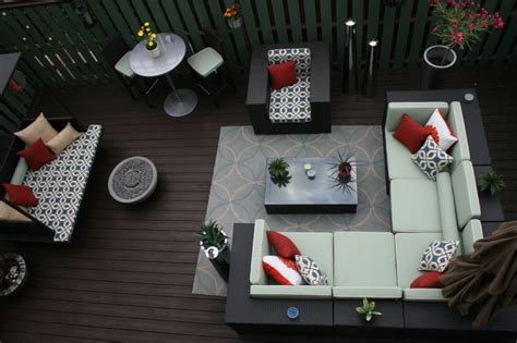 patio furniture lay outs an indoor outdoor oasis transitional deck
