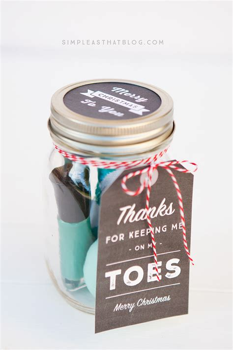 gift ideas with jars simple jar gifts with printable tags
