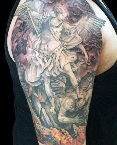 archangel michael tattoos for men archangel michael tattoos for www imgkid the