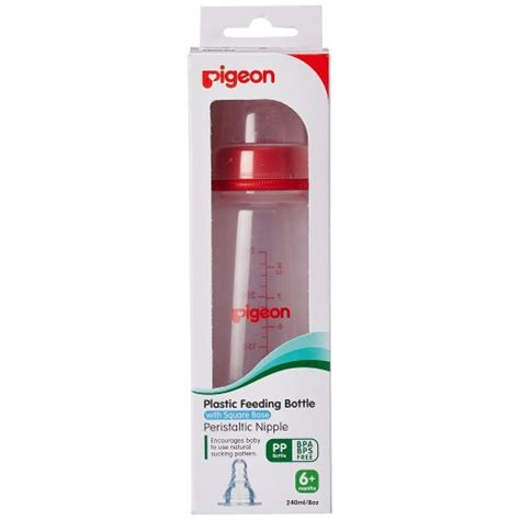 Pigeon Peristaltic 240ml pigeon peristaltic 240ml nursing bottle kpp with l size