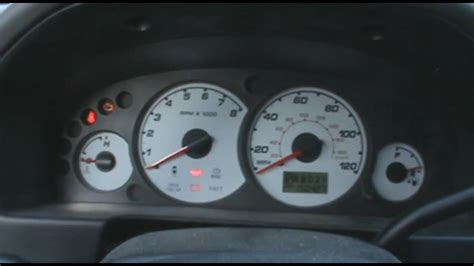 ford escape warning lights 2002 ford escape dash cold start youtube