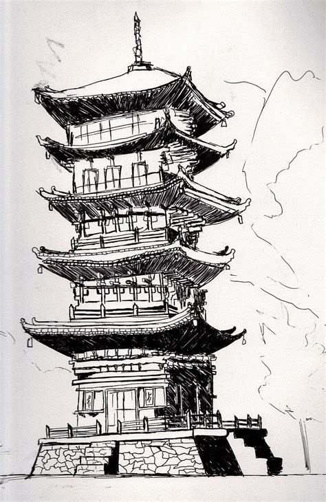 japanese building tattoo designs image result for japanese temples drawings japanese