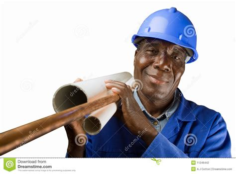 Black Plumbing by Plumber Worker Stock Photography Image 11246442