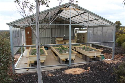aquaponics greenhouse nearing completion and system