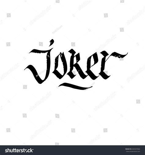 joker sign ink hand lettering modern stock vector
