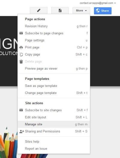 how to change template on google sites change the banner arc templates templates