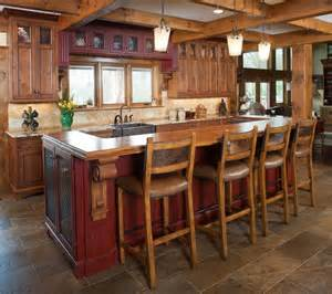 Rustic Kitchen Islands With Seating | incomparable rustic kitchen island with seating also oil