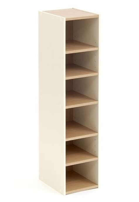 narrow cupboard with shelves shelves shoe storage cupboard tower open beech 6 shelf