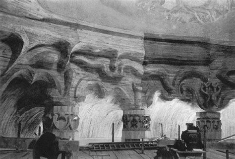 Interior Pillars ways architecture plate 9 interior of the goetheanum