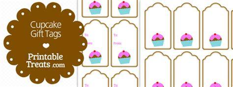 printable cupcake gift tags   brown border