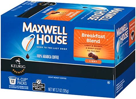 maxwell house k cups maxwell house breakfast blend k cup packs 12 count b00awj66lq amazon price