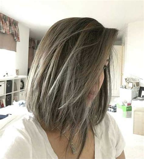 hairstyles long grey layered with black or dark chocolate brown lowlights highlights or ombre balayage these days most popular short grey hair ideas short