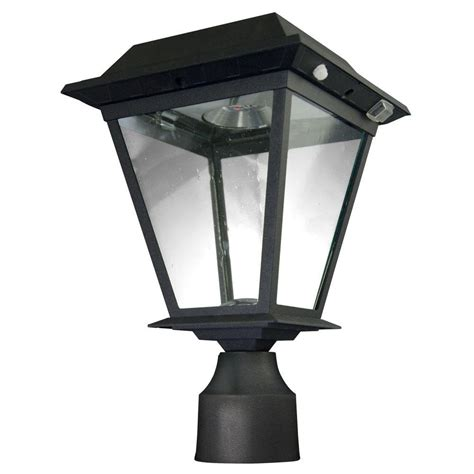 Outdoor Solar Post Light Fixtures Xepa Stay On Whole 300 Lumen 77 In Outdoor Black Solar Led Post L Spx41001 The Home