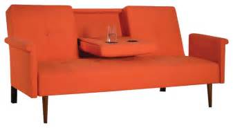 Orange Futons by Shop Houzz Modern Linen Adjustable Futon Orange Futons