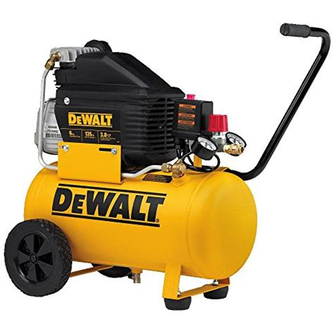 dewalt d55166 6 gallon horizontal portable electric air