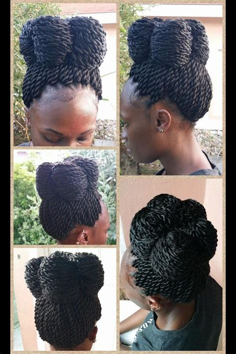 diffrent types of twist crochet senegalese twist updo different hair pinterest