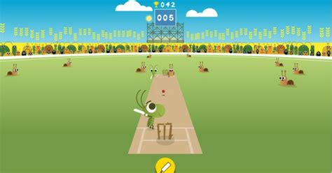 doodle icc play a of cricket with crickets in s