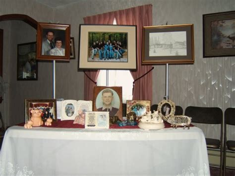 memorial table for funeral brenneman funeral home