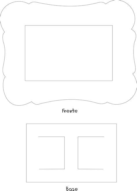 moldes d porta retrato echo d papel passatempo da ana molde porta retrato