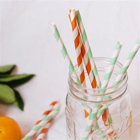 Striped Paper Straws striped paper straws 25pcs mint