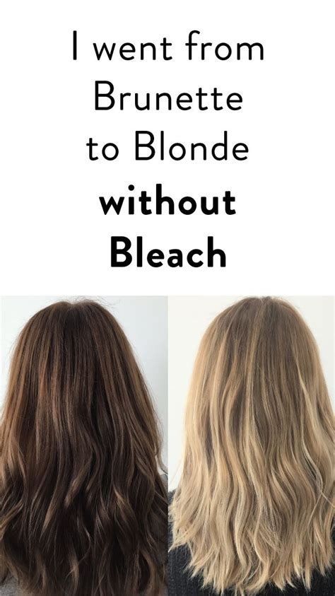 blonde hair colours without bleach the 25 best from brunette to blonde ideas on pinterest