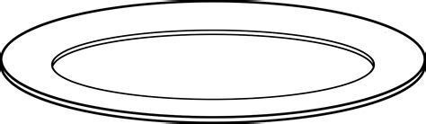 Plate Clipart Black And White clipart plate