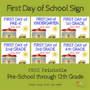day of school sign template day of school printable template day of