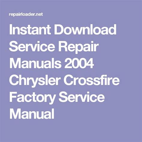 service manual 2007 chrysler crossfire workshop manual download 2005 chrysler crossfire 1000 ideas about repair manuals on rear window decals car manuals and nissan