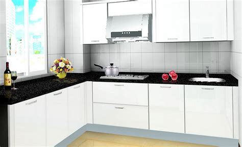Small Kitchen Black Cabinets Small Kitchen White Cabinets Black Countertop Home Design Ideas