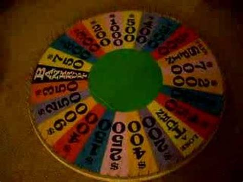 Homemade Wheel Of Fortune Wheel Youtube How To Make A Wheel Of Fortune On Powerpoint