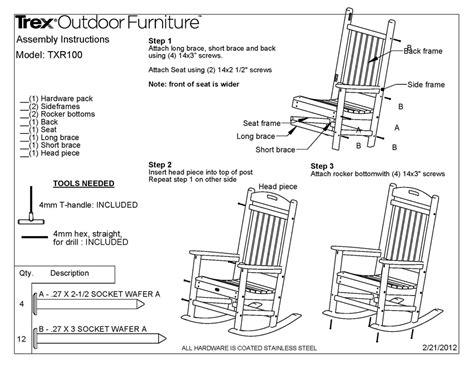 trex tcr yacht club rocking chair polywood furniture