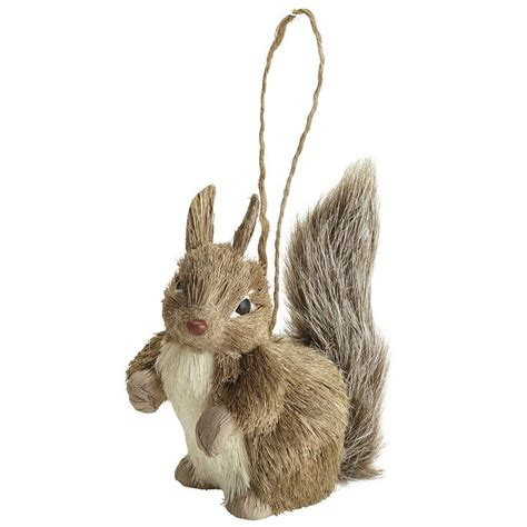 natural squirrel ornament christmas pinterest
