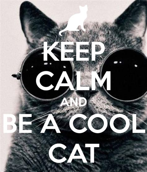keep calm and be a cool cat poster bobb keep calm o matic