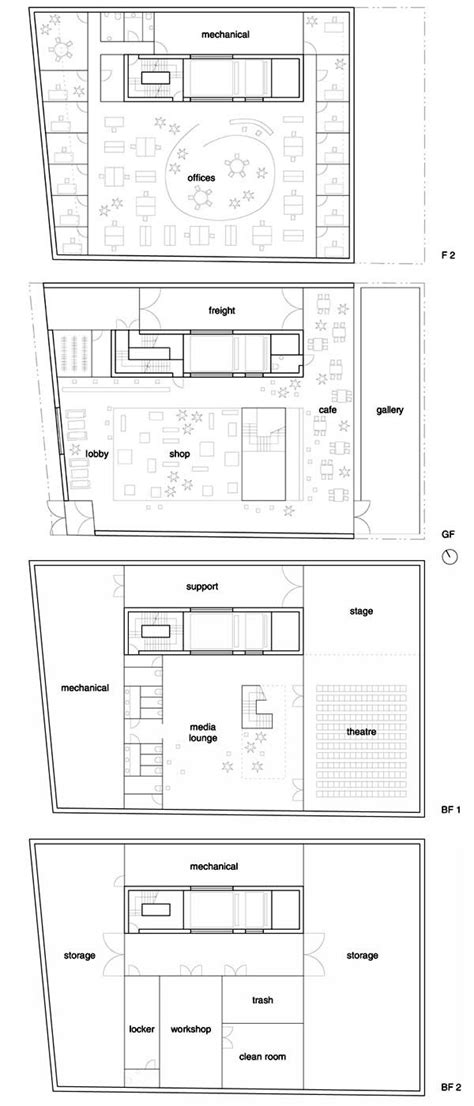 floor plan of museum the new museum of contemporary art sanaa pinterest