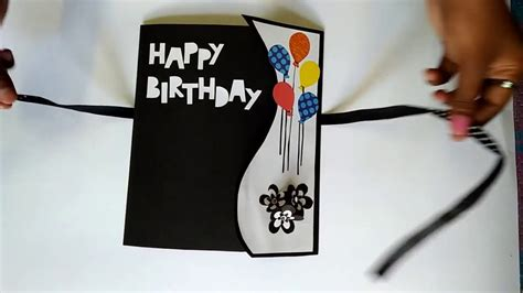Hand Made Gift Cards - birthday greeting cards for friends handmade birthday gift card youtube