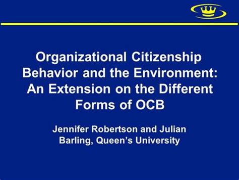Organizational Citizenship Behavior Mba Ppt by Transformational Leadership Goal Difficulty And