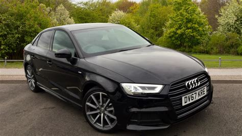 Audi A3 Black Edition used 2017 audi a3 saloon black edition 1 5 tfsi 150 ps s